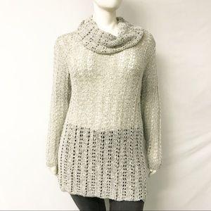 American Rag Cowl Neck Open Weave Sweater Dress